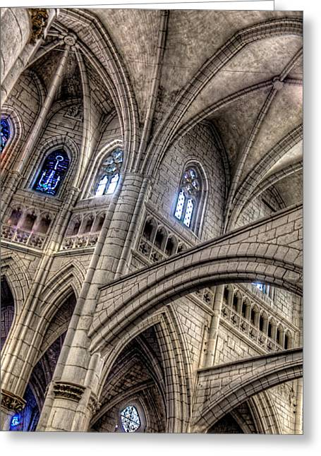 Ken Follets Cathedral No2 Greeting Card by Weston Westmoreland