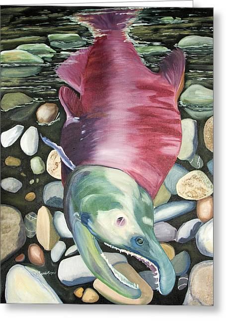 Kenai Ded Red 2 Greeting Card by Amy Reisland-Speer