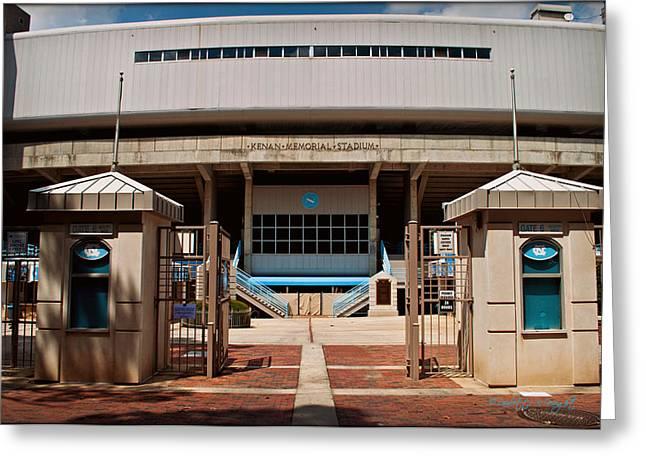 Kenan Memorial Stadium - Gate 6 Greeting Card by Paulette B Wright