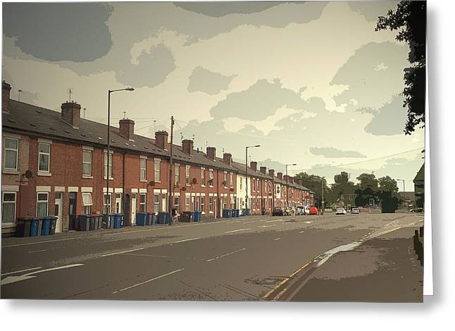 Kenilworth Avenue In Pear Tree, Dwellings On The A511 Road Greeting Card by Litz Collection
