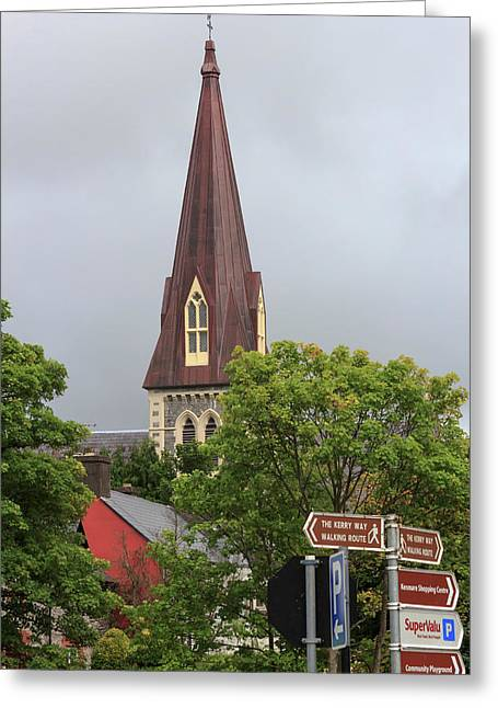 Kenmare County Kerry Ireland Church Greeting Card by Tom Norring