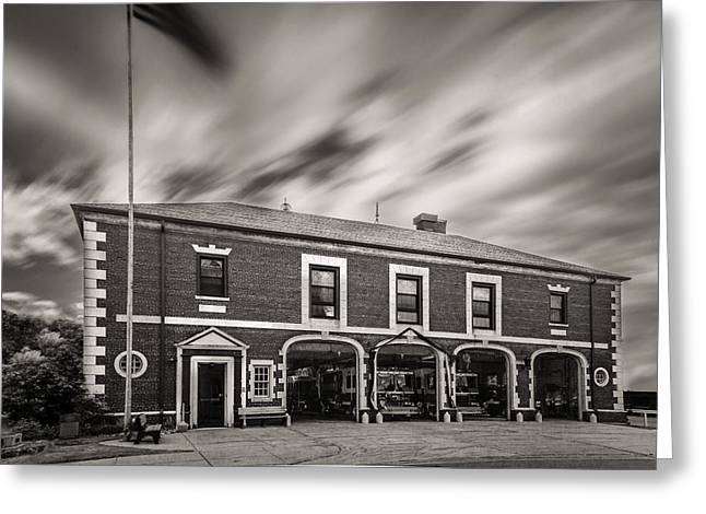 Kenmore New York Fire Hall Greeting Card by Chris Bordeleau