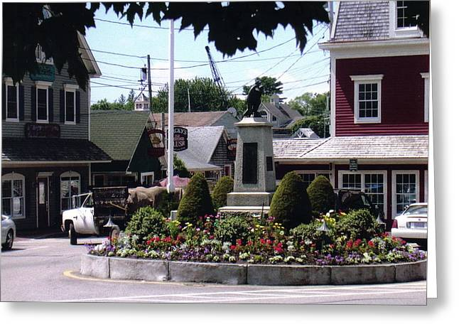 Kennebunkport Circle Greeting Card by Dusty Reed