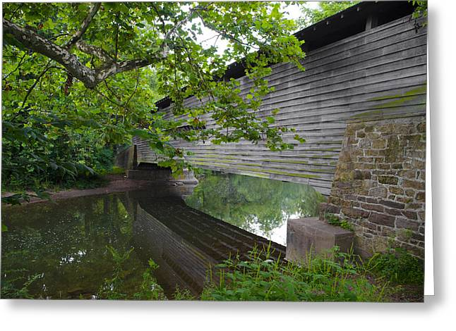 Kennedy Bridge On French Creek Greeting Card by Bill Cannon