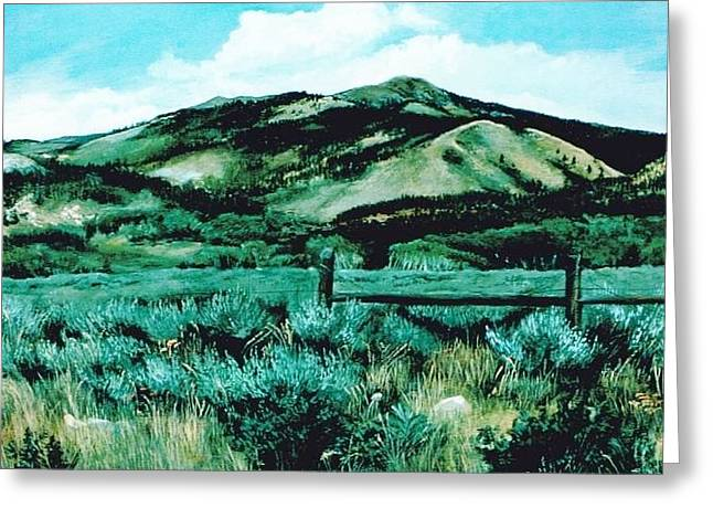 Kennedy Peak In Wyoming Greeting Card
