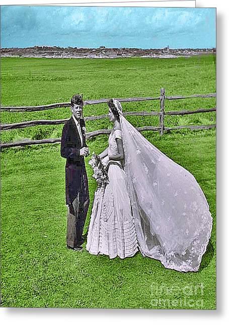 Kennedy Wedding Greeting Card by Jost Houk