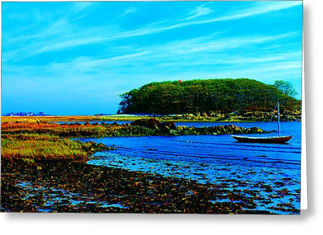Greeting Card featuring the photograph Kennepunkport Vaughn Island  by Tom Jelen