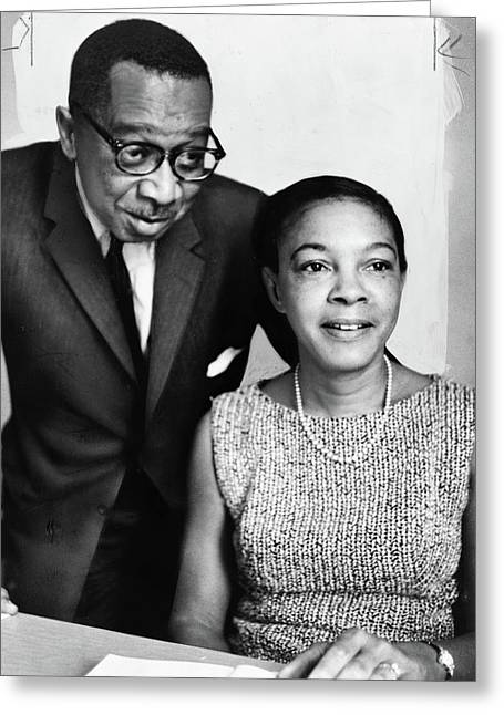 Kenneth And Mamie Clark Greeting Card by Granger
