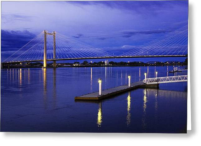 Greeting Card featuring the photograph Kennewick Bridge 2 by Sonya Lang