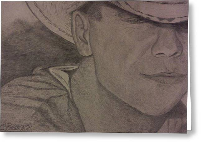 Kenny Chesney Greeting Card by Christy Saunders Church