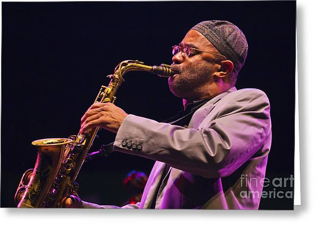 Kenny Garrett Greeting Card by Craig Lovell
