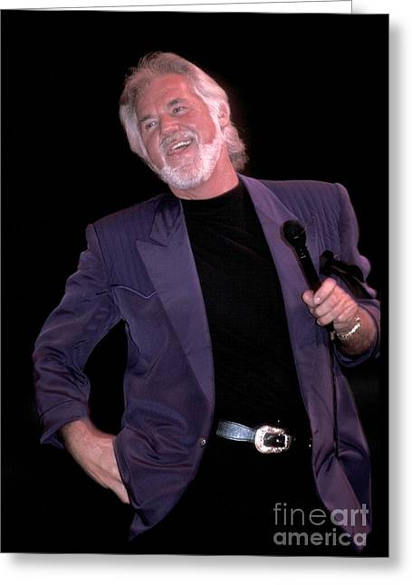 Kenny Rogers Greeting Card by Concert Photos