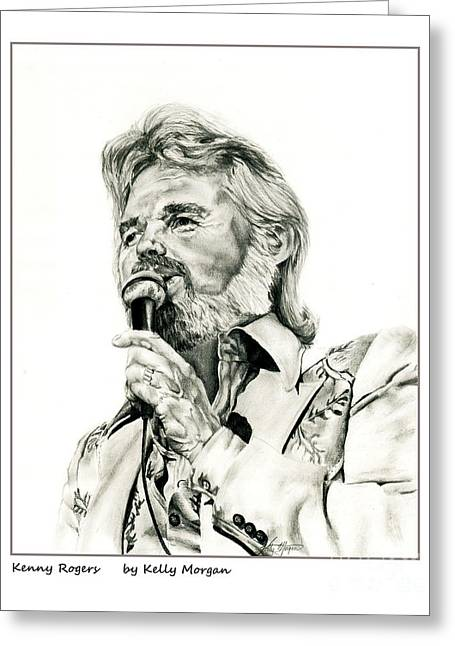 Kenny Rogers Greeting Card by Kelly Morgan