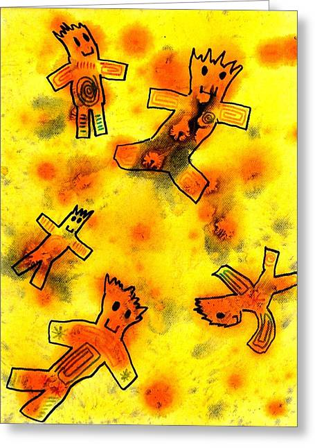 Kennybot Number 1 Greeting Card by Kenny Henson