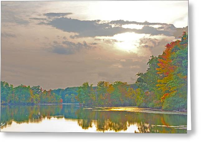 Kensington Autumn Sunset Greeting Card by Bill Woodstock