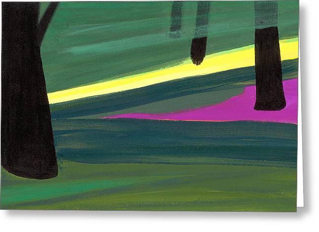 Kensington Gardens Series Light In The Park Oil On Canvas Greeting Card by Izabella Godlewska de Aranda