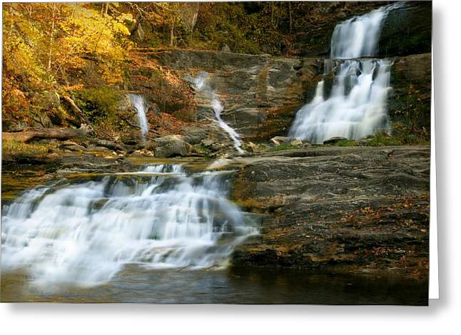 Kent Falls Greeting Card by Diana Angstadt