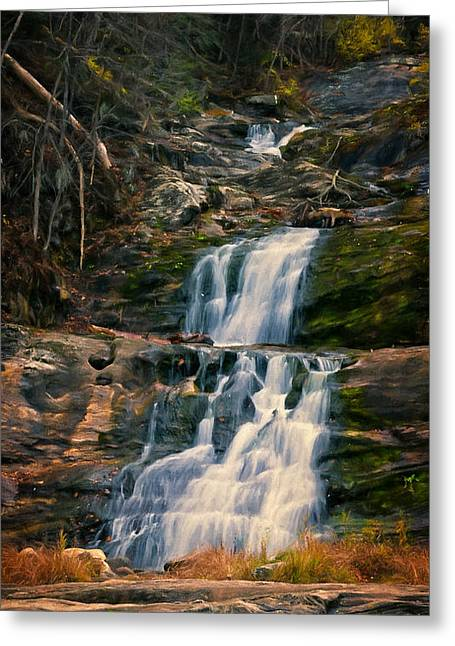 Kent Falls In Autumn Greeting Card by Joan Carroll