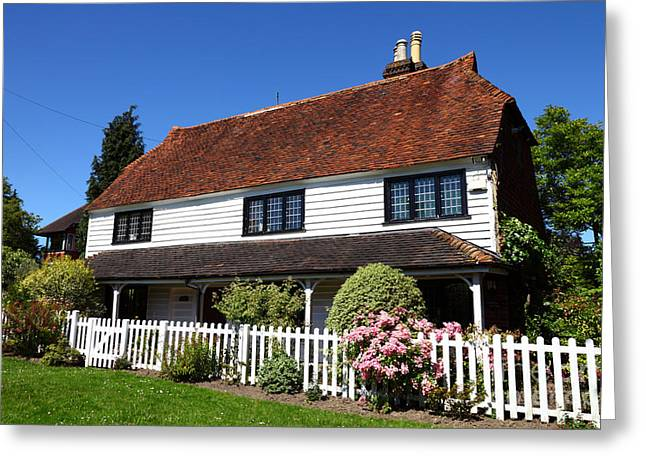 Typical Kent Cottage England Greeting Card by James Brunker