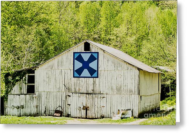 Kentucky Barn Quilt - Windmill Greeting Card by Mary Carol Story