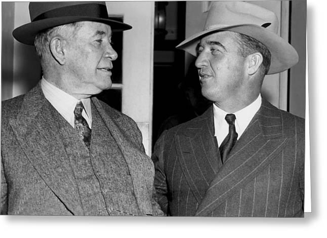 Kentucky Senators Visit Fdr Greeting Card by Underwood Archives