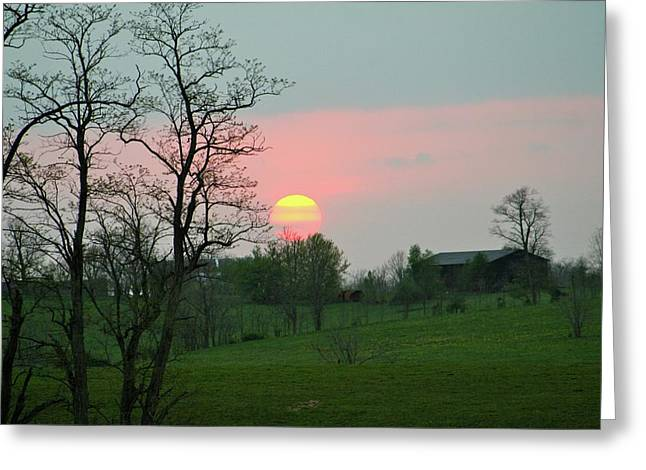 Kentucky Sunset Greeting Card by Donald Lively