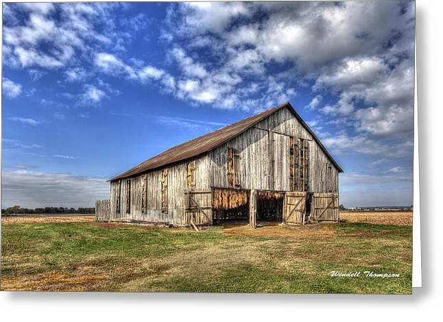 Kentucky Tobacco Barn Greeting Card by Wendell Thompson