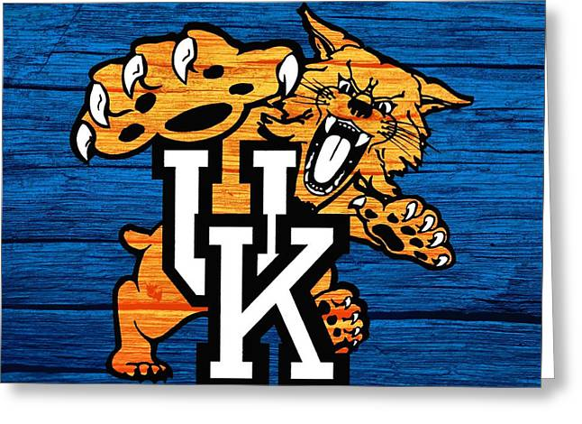 Kentucky Wildcats Barn Door Greeting Card