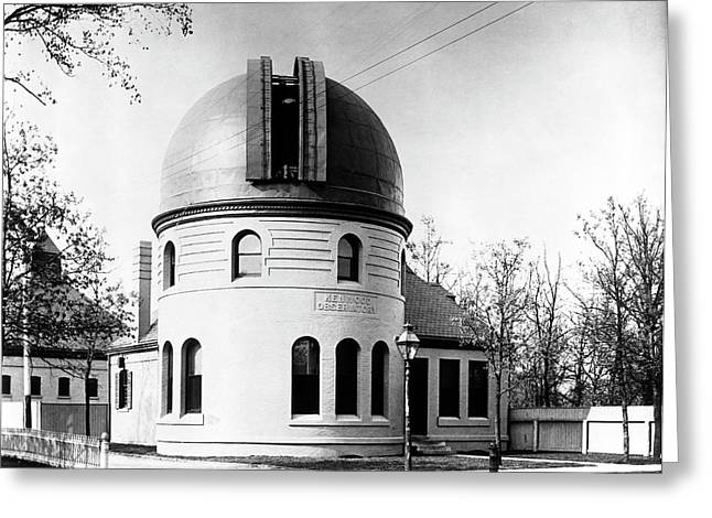 Kenwood Observatory Greeting Card by Yerkes Observatory, University Of Chicago, Courtesy Emilio Segre Visual Archives/american Institute Of Physics