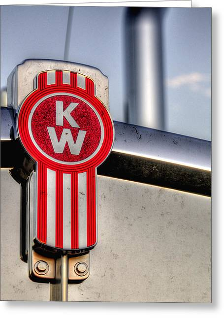 Kenworth Hood Logo 34709 Greeting Card
