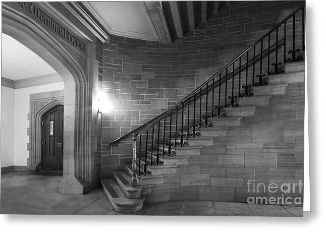 Kenyon College Peirce Stairway Greeting Card by University Icons