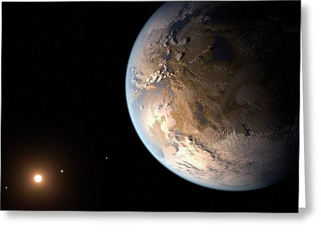 Kepler-186f Exoplanet Greeting Card by Nasa/ames/seti Institute/jpl-caltech