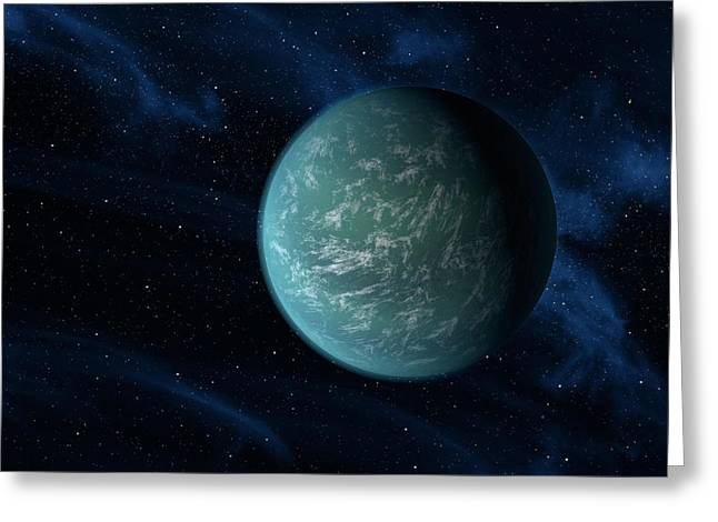 Kepler-22b, Artwork Greeting Card by Science Photo Library