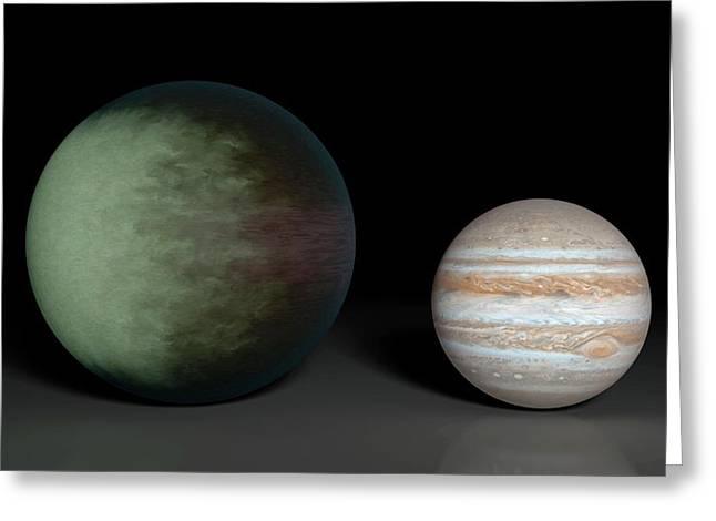 Kepler-7b And Jupiter Greeting Card by Nasa/jpl-caltech/mit
