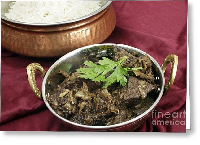 Kerala Mutton Liver Fry Horizontal Greeting Card by Paul Cowan