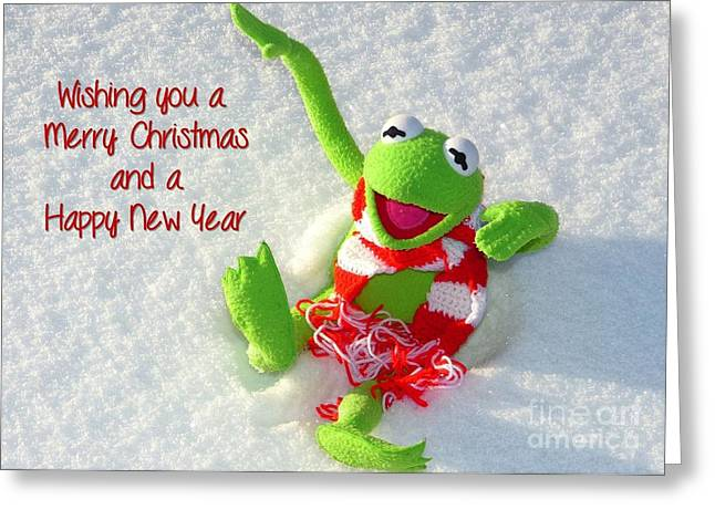 Kermie Christmas Greeting Card