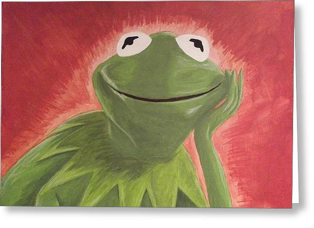 Kermit the frog greeting cards fine art america kermit greeting card m4hsunfo