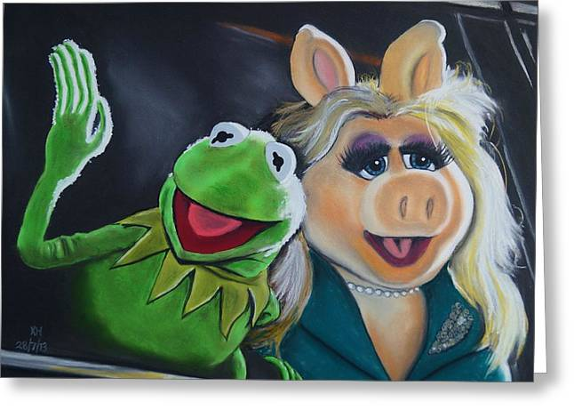 Kermit The Frog And Miss Piggy Greeting Card