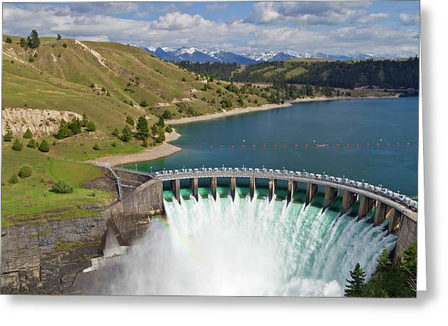 Kerr Dam Releasing Water Greeting Card by Chuck Haney