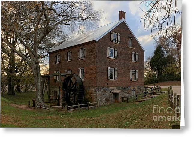 Kerr Grist Mill Sunset Greeting Card by Adam Jewell