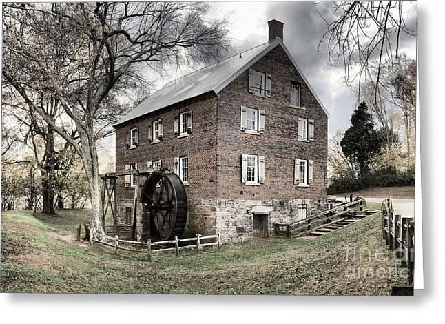 Kerr Gristmill In North Carolina Greeting Card by Adam Jewell