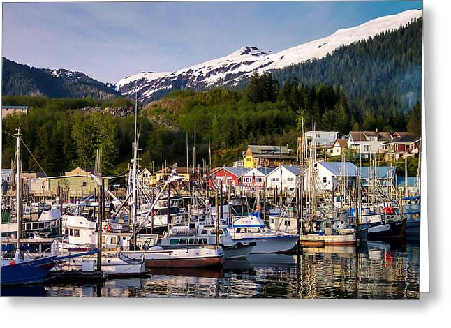 Ketchikan Alaska Dock Greeting Card by Michael J Bauer
