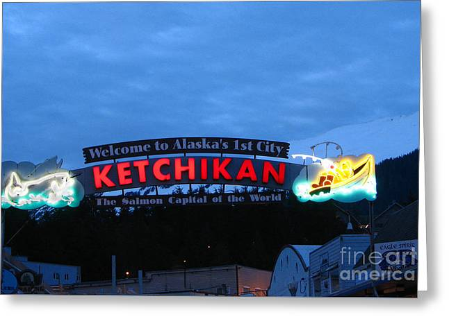 Ketchikan Greeting Card by Robert Bales