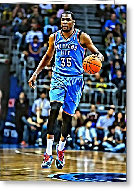 Kevin Durant Greeting Card by Florian Rodarte