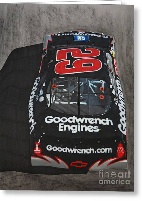 Kevin Harvick Goodwrench Chevrolet Greeting Card by Paul Kuras