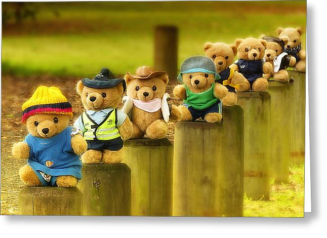Kevs Teddys 02 Greeting Card by Kevin Chippindall