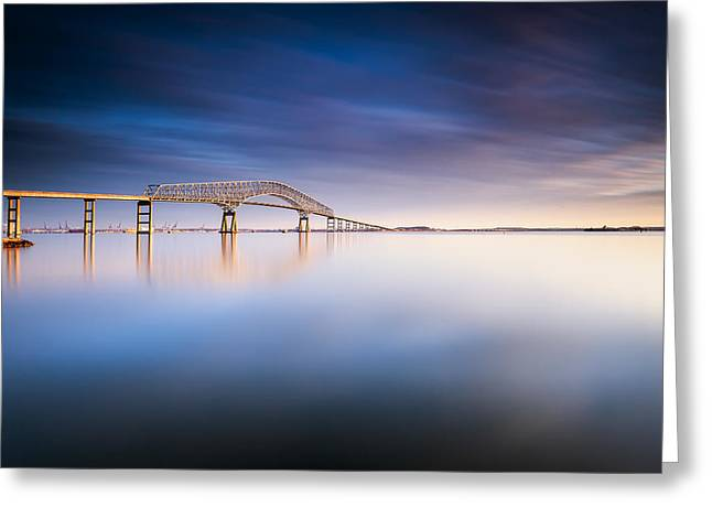 Key Bridge 2014 Greeting Card by Edward Kreis