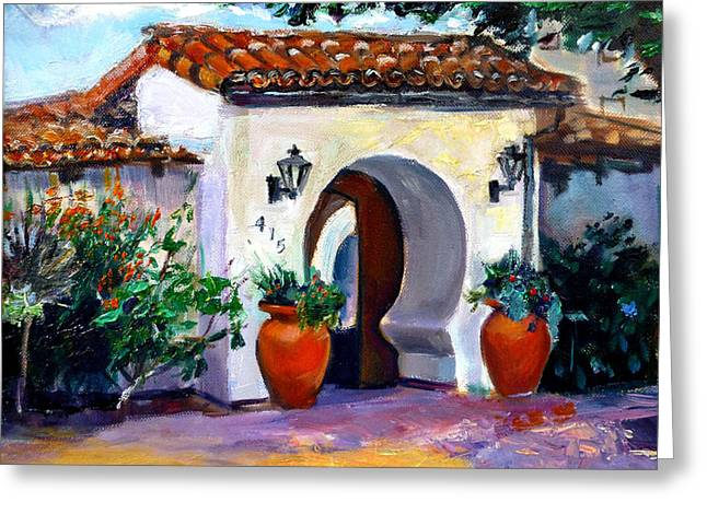 Key Hole Archway 415 Greeting Card by Renuka Pillai