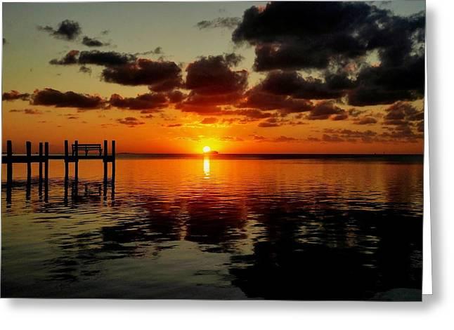 Key Largo Sunset Greeting Card by Benjamin Yeager