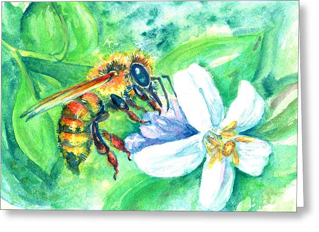 Key Lime Honeybee Greeting Card